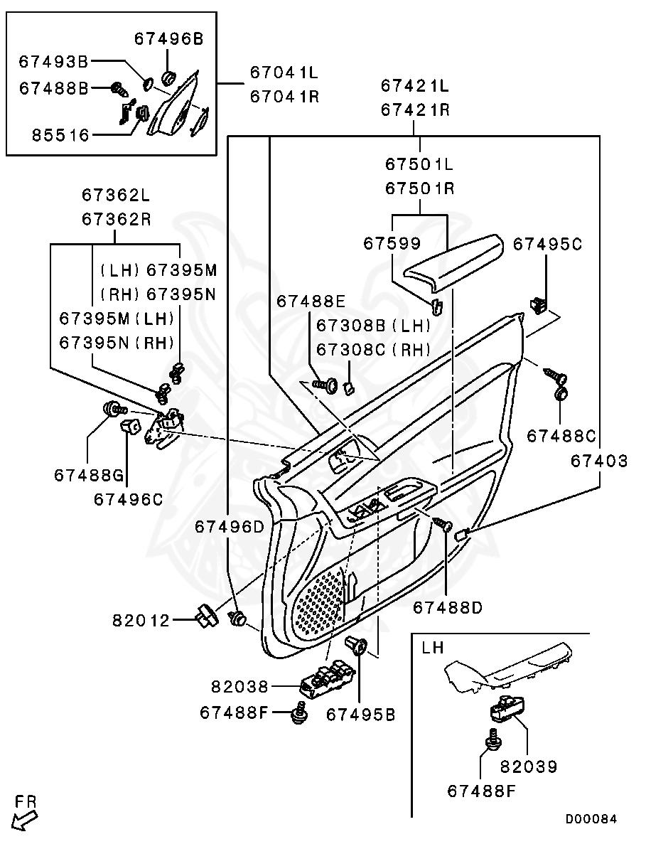 Mitsubishi - Clip, Fr Door Trim