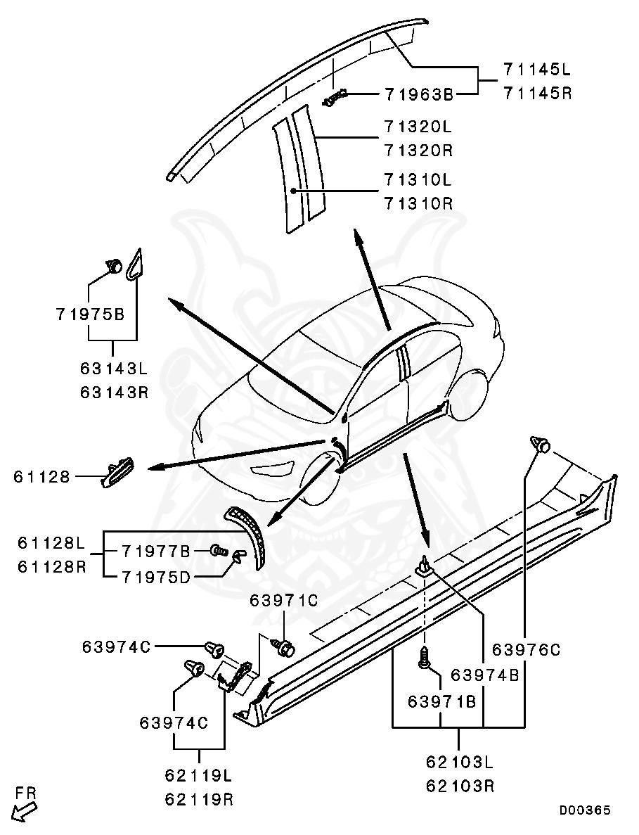 Mitsubishi - Screw, Side Air Dam