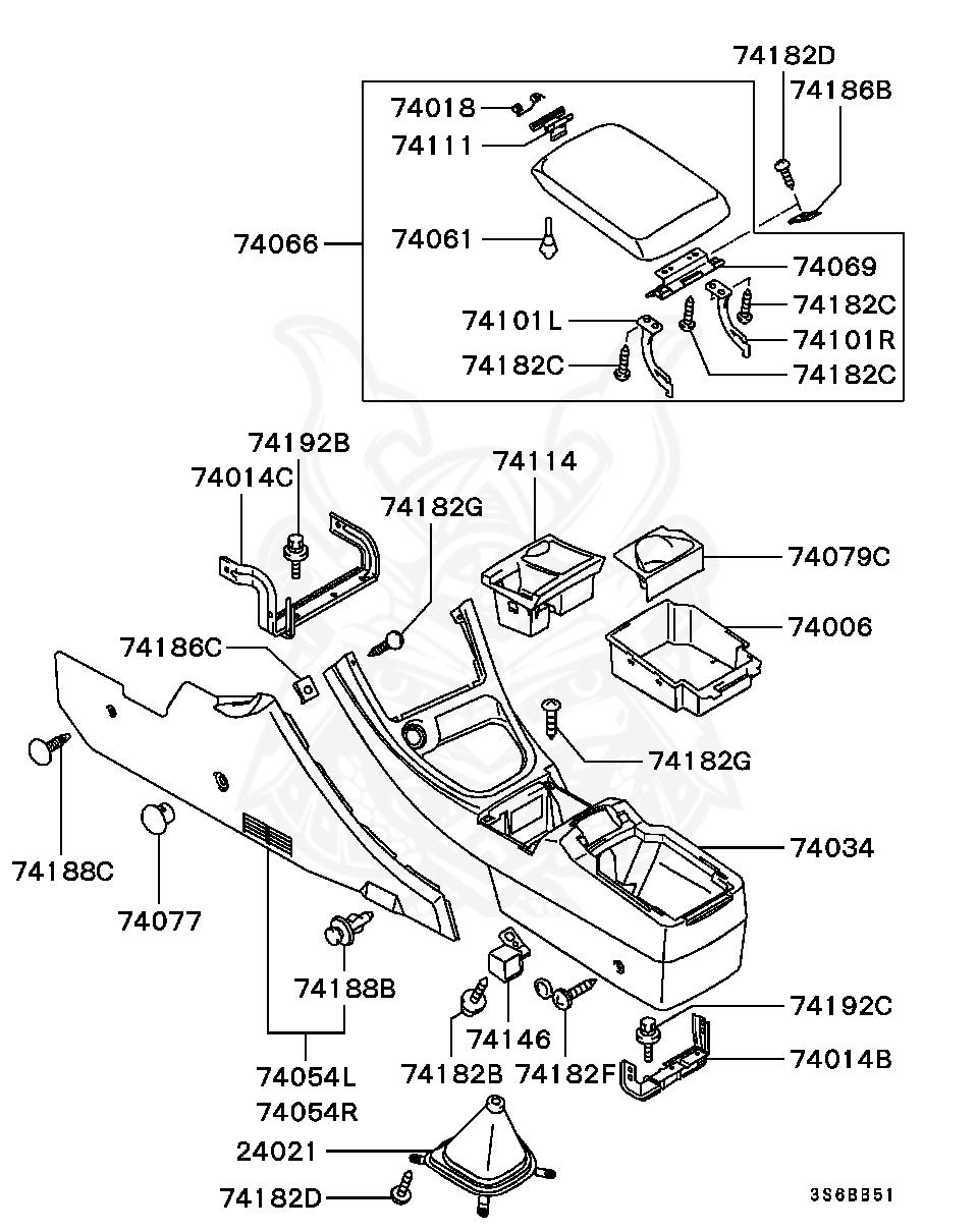 Mitsubishi - SCREW, TRUNK LID LOCKING