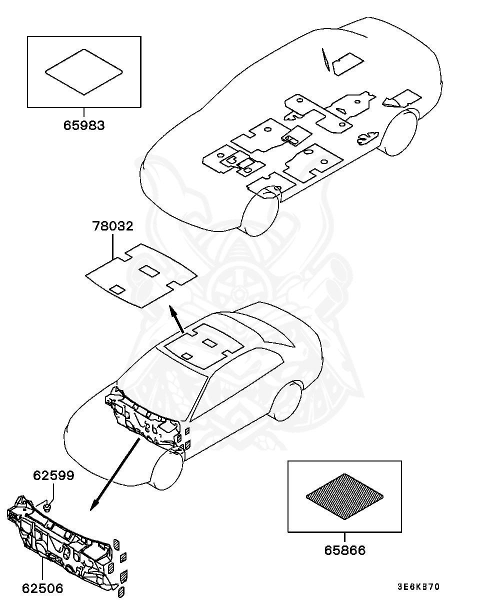 Mitsubishi - Pad, Floor