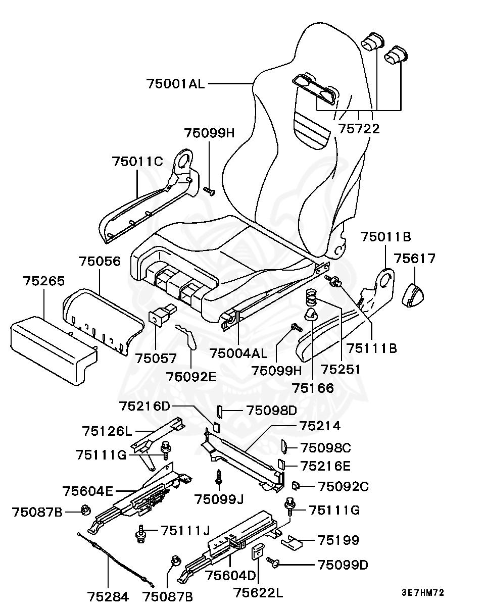 Mitsubishi - Bolt, Fr Seat