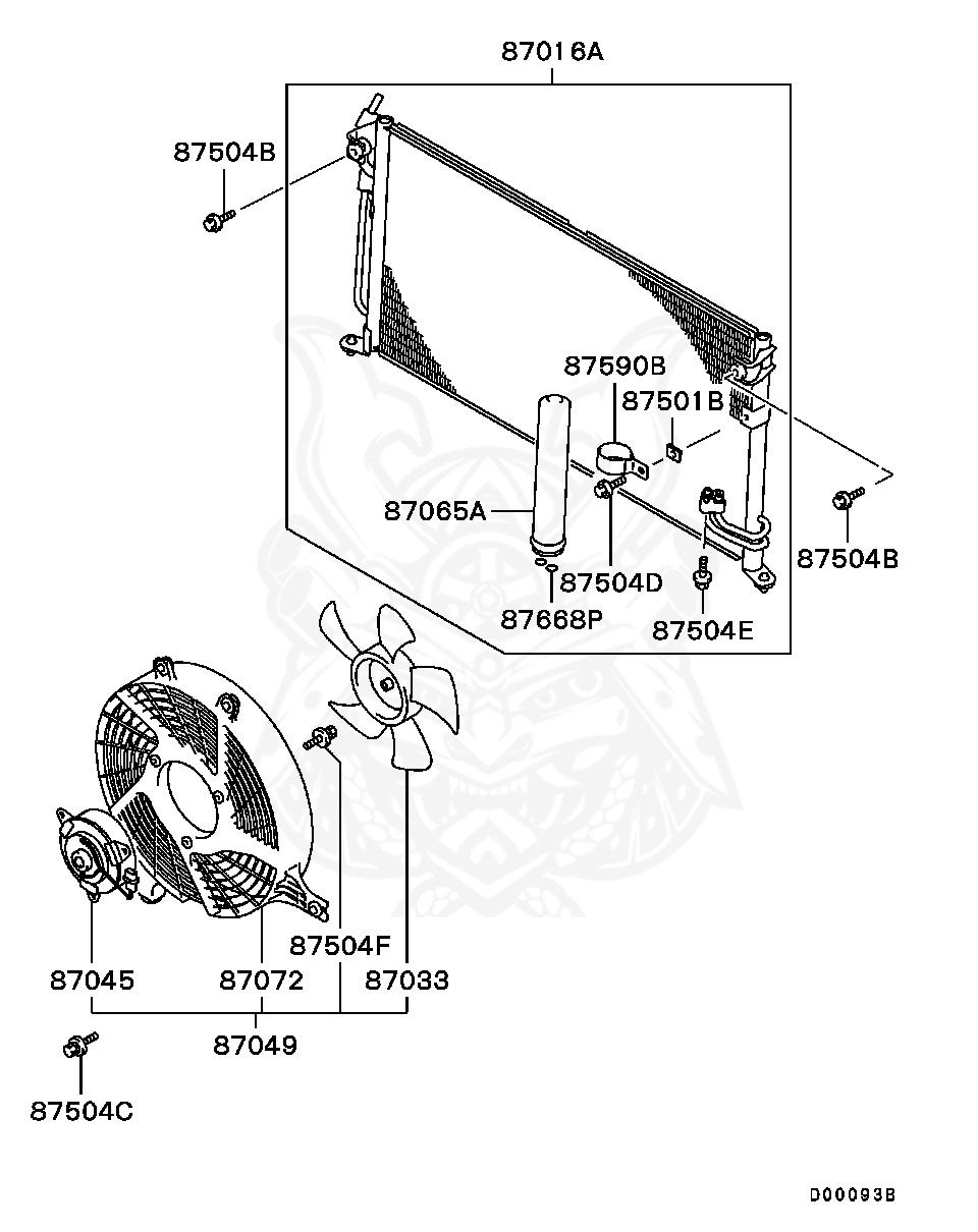 mitsubishi 4g63 engine diagram mr315849 mitsubishi motor  a c condenser fan nengun  mitsubishi motor  a c condenser fan