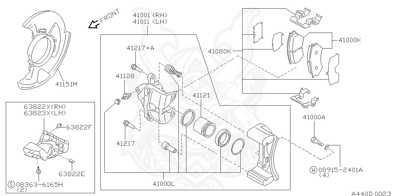 FRONT PULSAR GTi-R RNN14 Brake Caliper overhaul kit