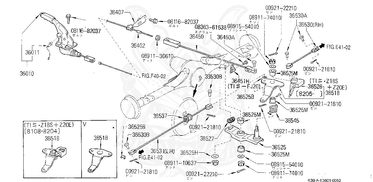 Nissan Cable Assy-brak
