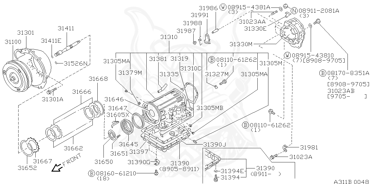 Nissan - Washer, Drain Plug Engine Oil Pan