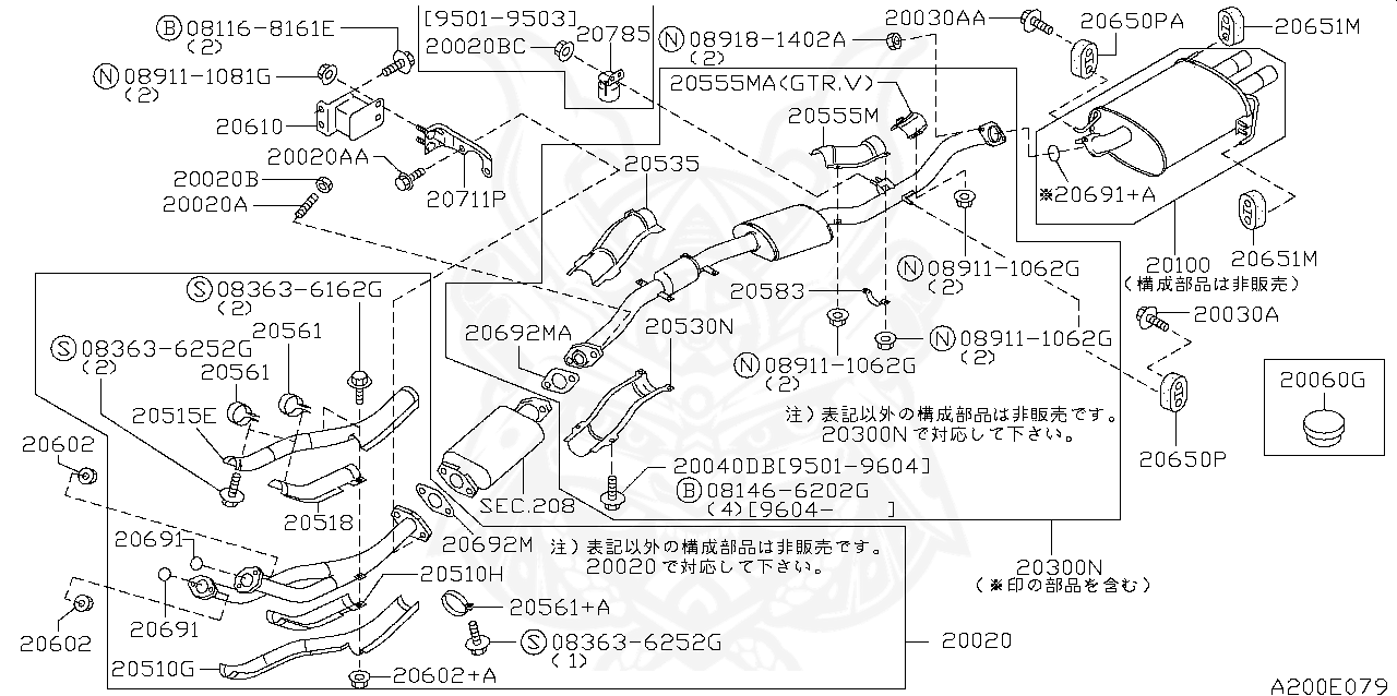 Nissan - Nut, Front Pipe