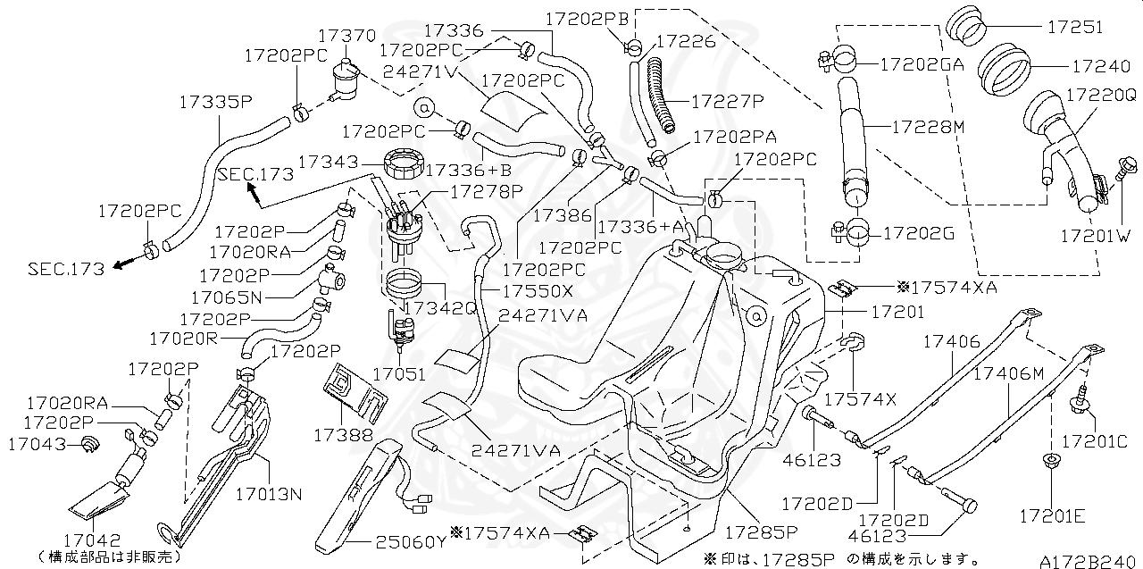 Nissan Skyline R32 R33 R34 GTR RB26DETT Fuel Tank Top O-Ring 17342-79900 JDM NEW