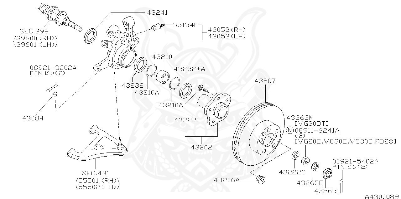Nissan - Wheel Bearing Clip