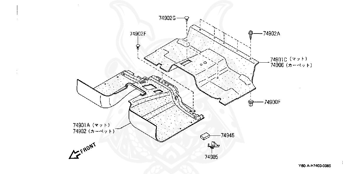 Nissan - Grommet, Screw