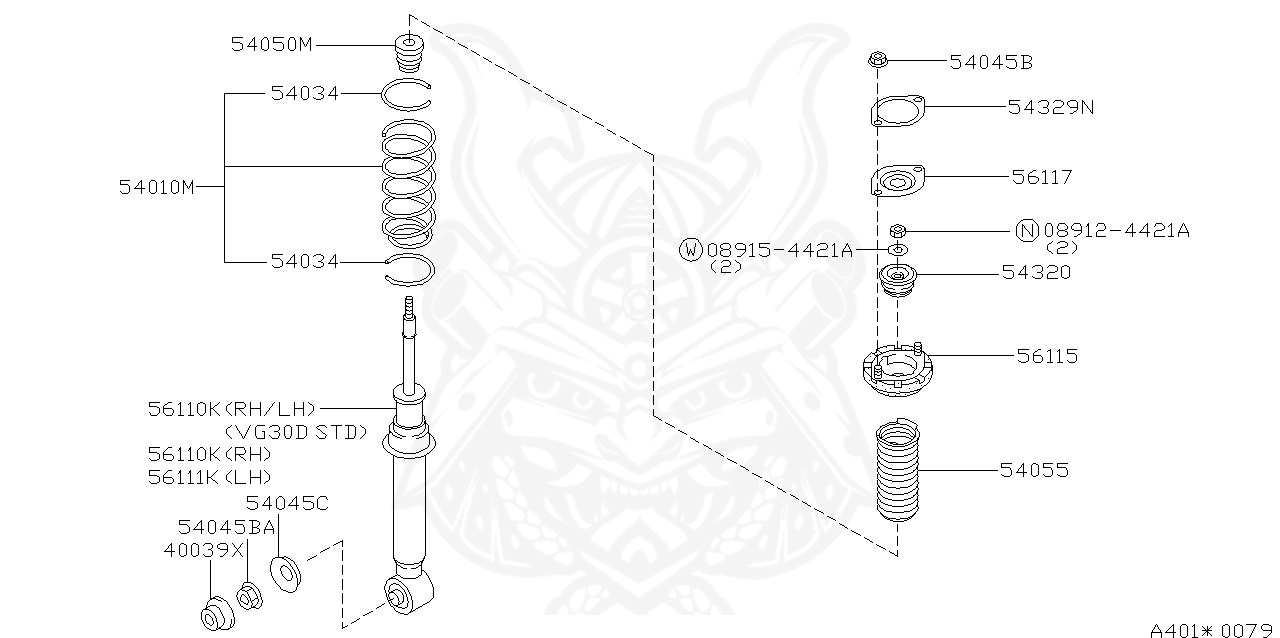 54329 33p00 Nissan Front Strut Insulator Spacer Nengun Performance