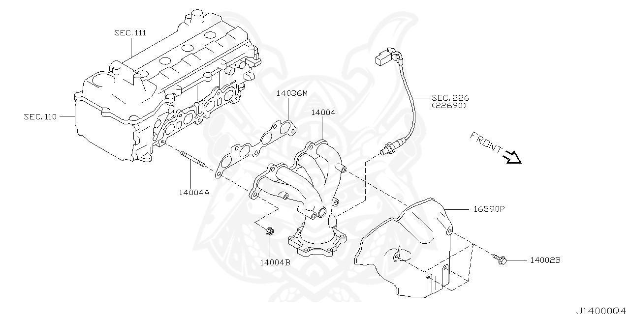 14036 Ax000 Nissan Gasket Exhaust Manifold Nengun Performance