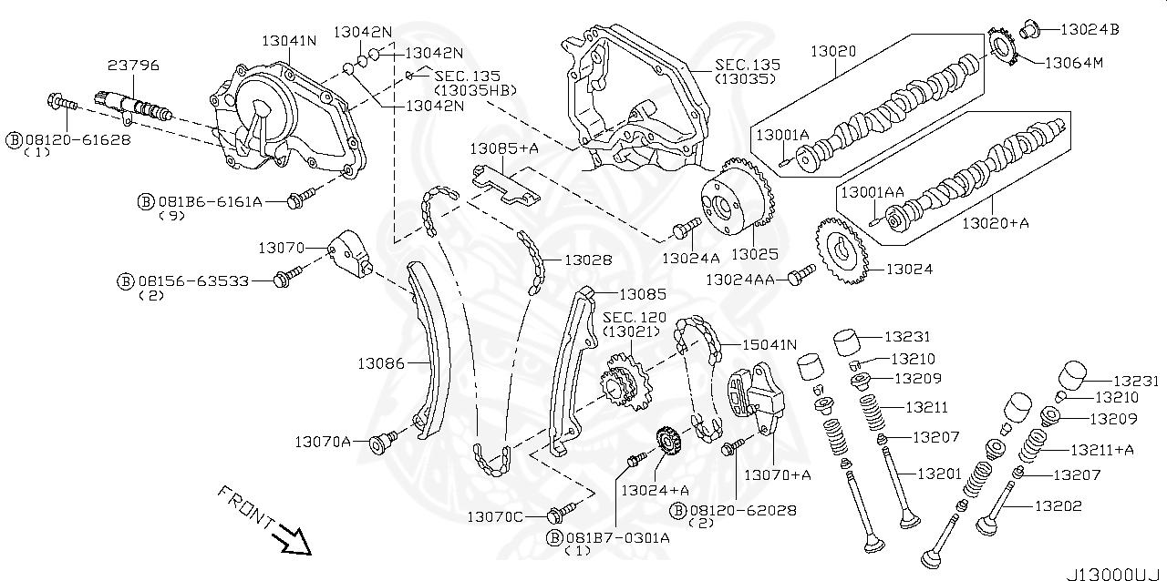 13025-ja01b - nissan - sprocket, camshaft intake - nengun performance  nengun performance