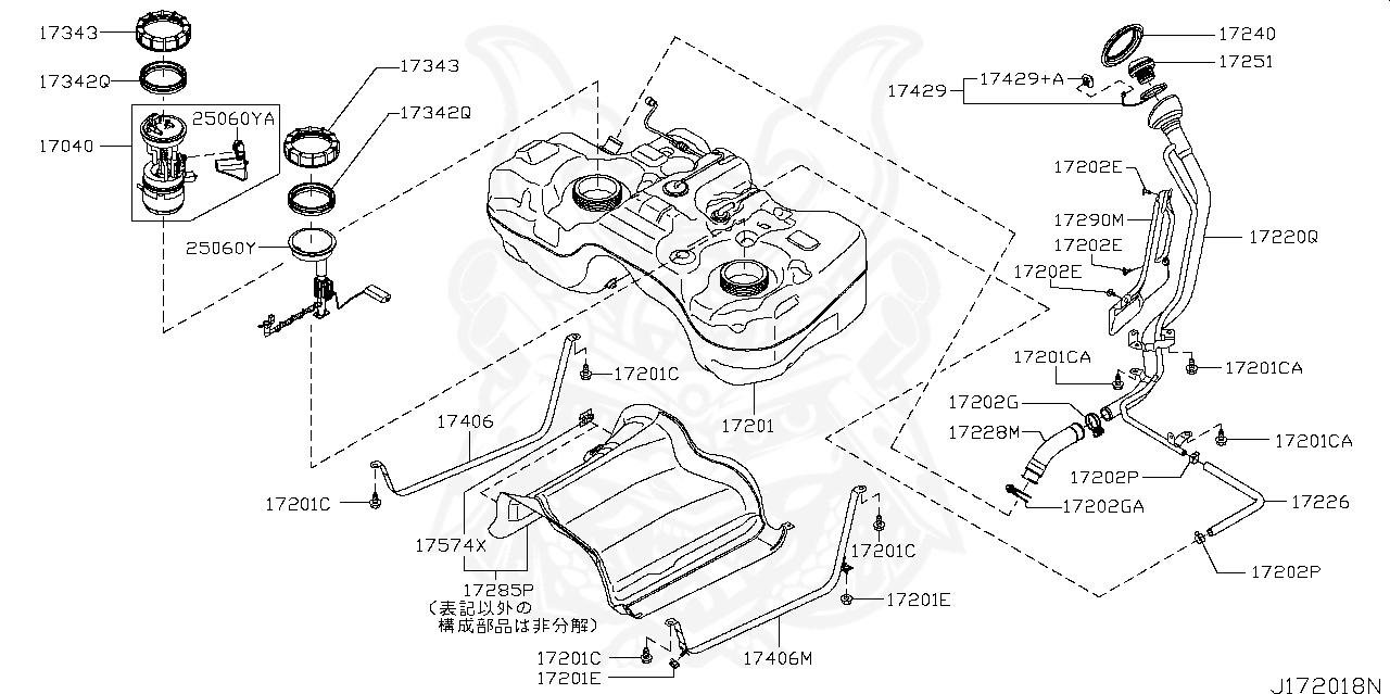 17040-jg00a - nissan - fuel pump, in tank - nengun performance  nengun performance