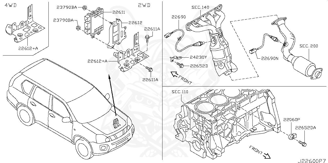 22060-7s000 - nissan - knock sensor assembly - nengun performance  nengun performance