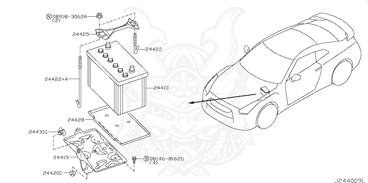 Nissan - Frame, Battery-freex