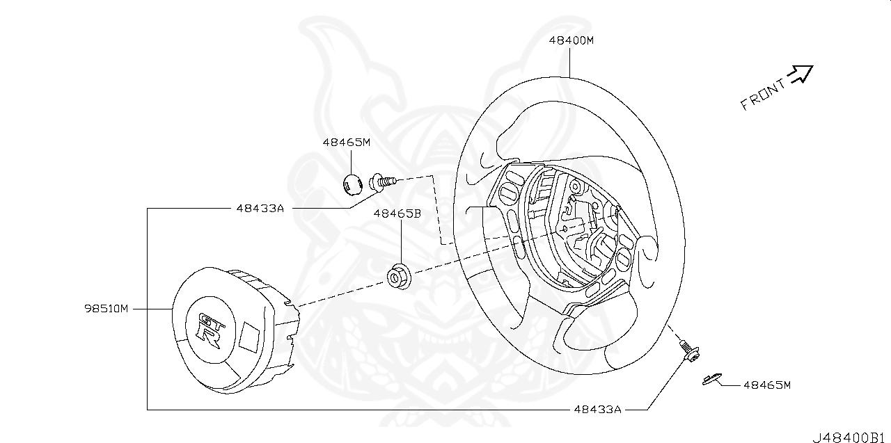 Nissan - Steering Wheel Nut