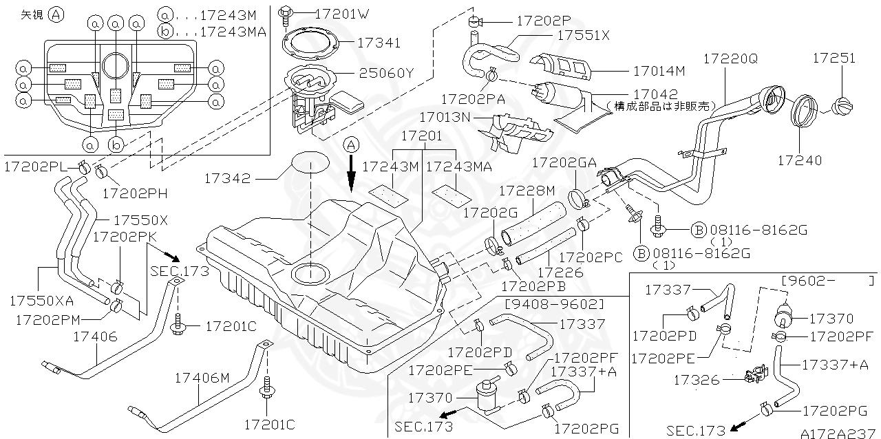 17551-31U00 - Nissan - Fuel Hose - Nengun Performance [ 638 x 1280 Pixel ]