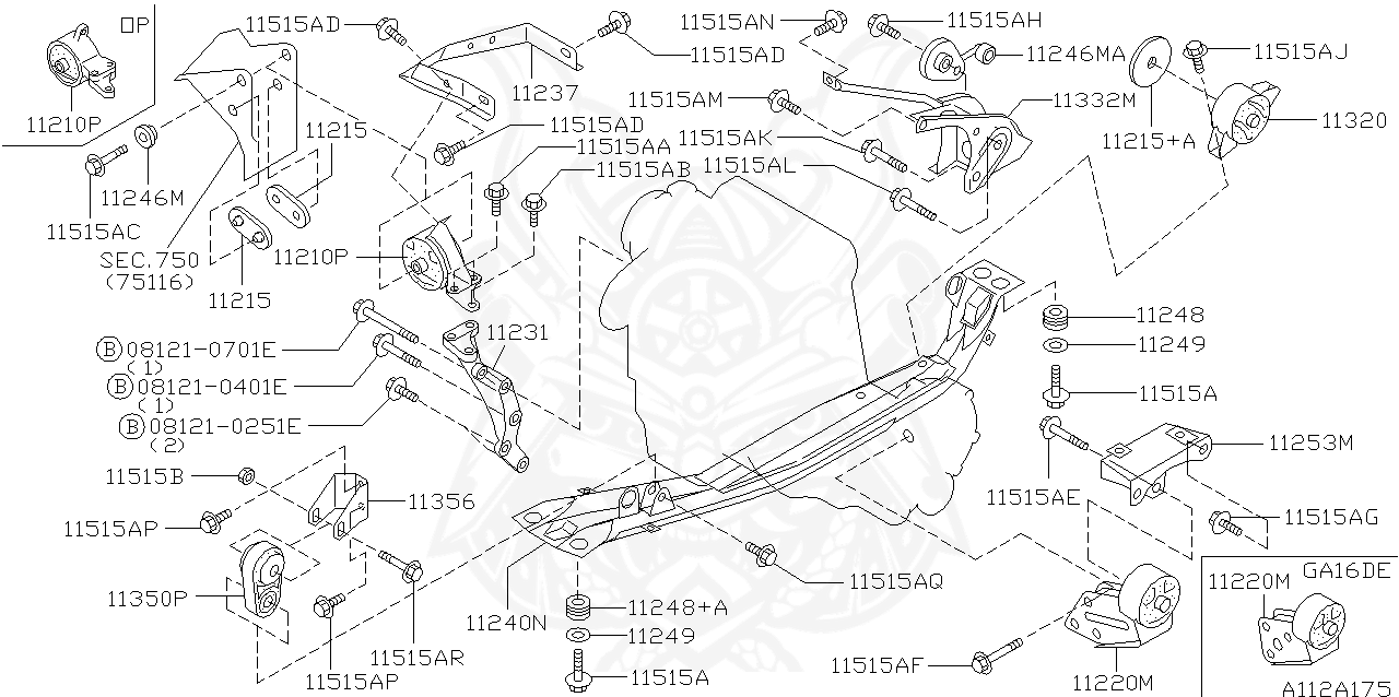 J /& L Gearbox Mount for VW Type 3 1500 1600