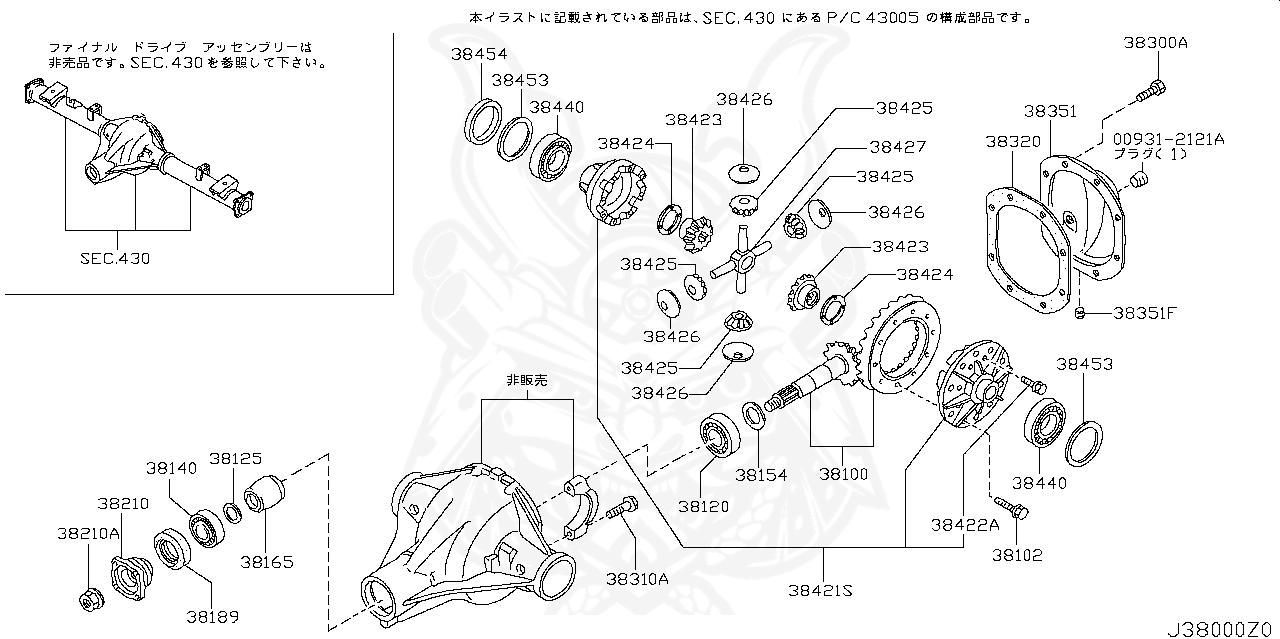 Nissan - Rear Diff Drain Plug