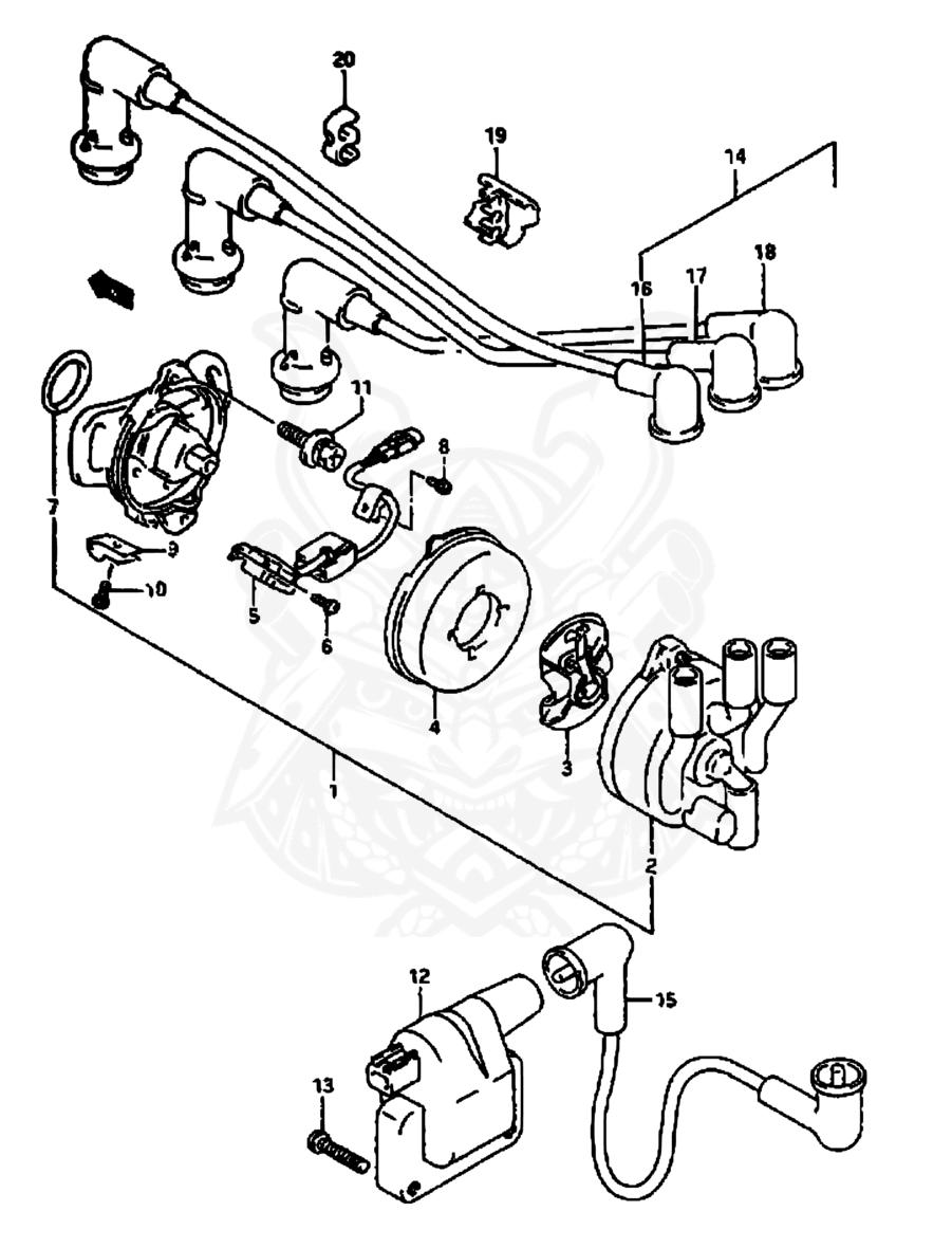 Distributor Cap For SUZUKI Alto Swift I II 33321-78110