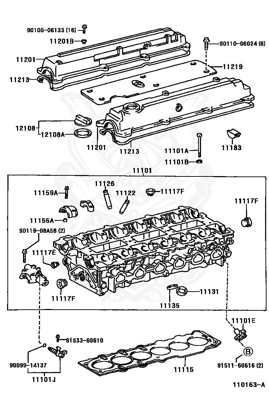 11219-88410 - toyota - cover, cylinder head, no.3 - nengun performance toyota 3 4 head engine diagram  nengun performance
