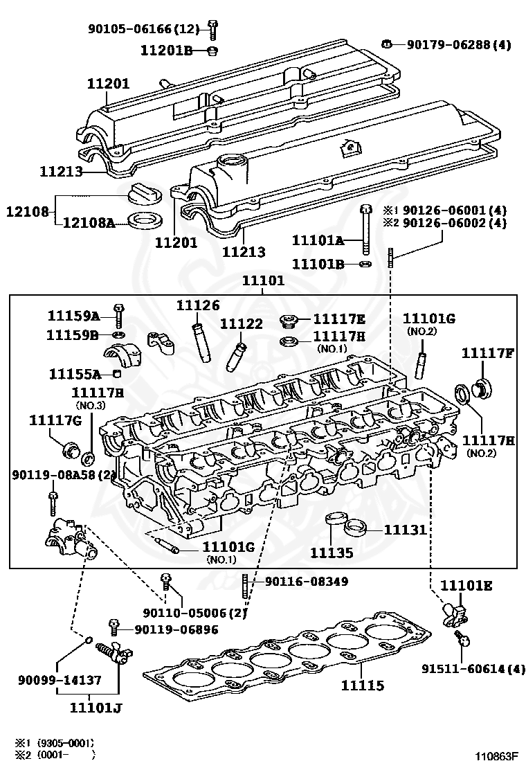 Toyota - Pin, Ring (for Water Pump Set)