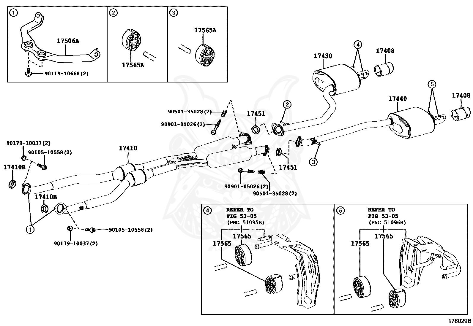 Lexus - Gasket, Exhaust Pipe