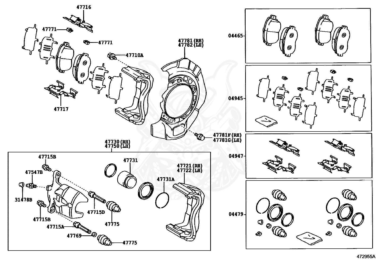 DISC BRAKE FRONT Toyota 04465-65021 PAD KIT