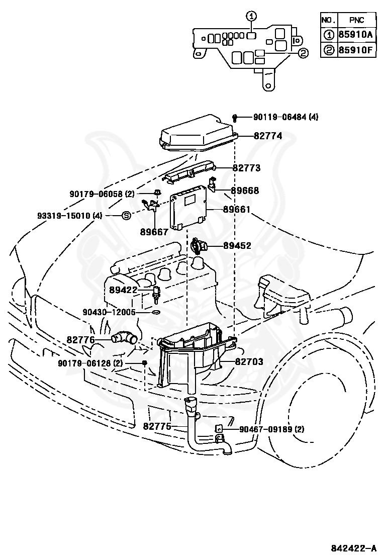 Genuine Toyota 89422-35010 Water Temperature Sensor