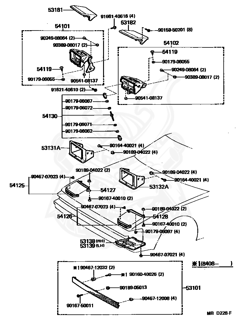 OEM NEW! Toyota Supra 1982-1985 Engine Air Filter