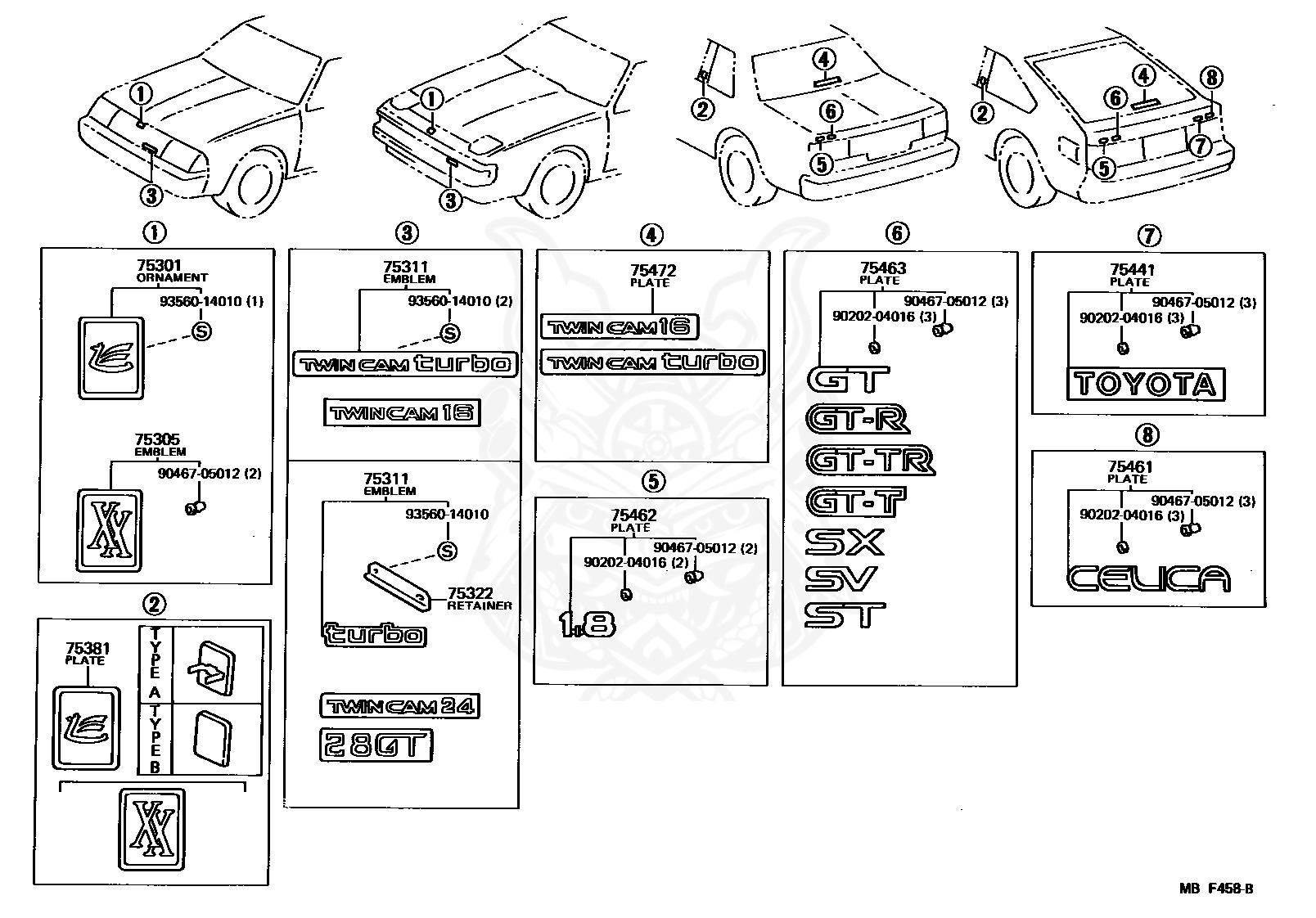 toyota 1 8 diagram 75321 19685 toyota emblem  radiator grille  or front panel  75321 19685 toyota emblem  radiator