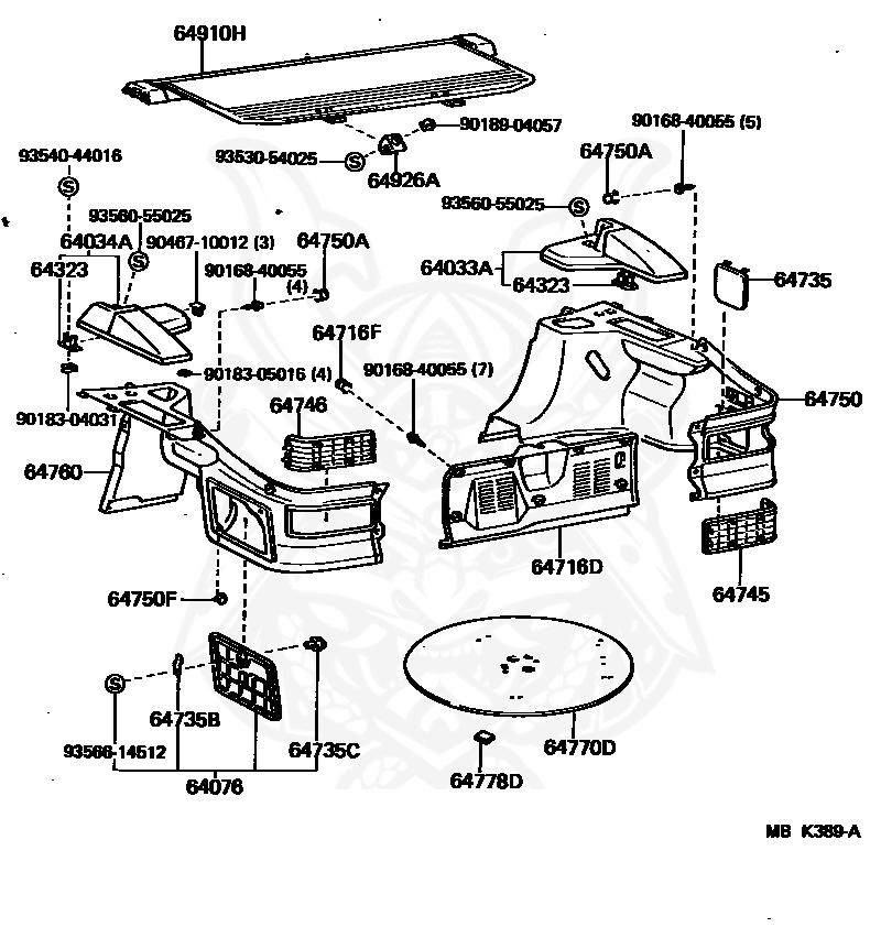 389 engine diagram 64901 14040 04 toyota retractor sub assy  tonneau cover  retractor sub assy  tonneau cover