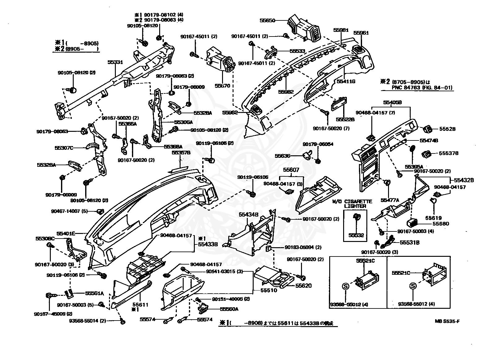 bestseller  2e corolla engine model 89