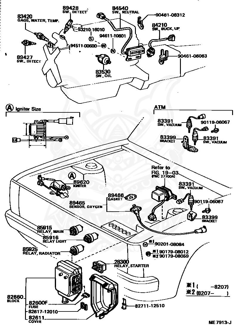 Toyota Fuse Box Diagram Fuse Box Toyota 1985 Celica Engine