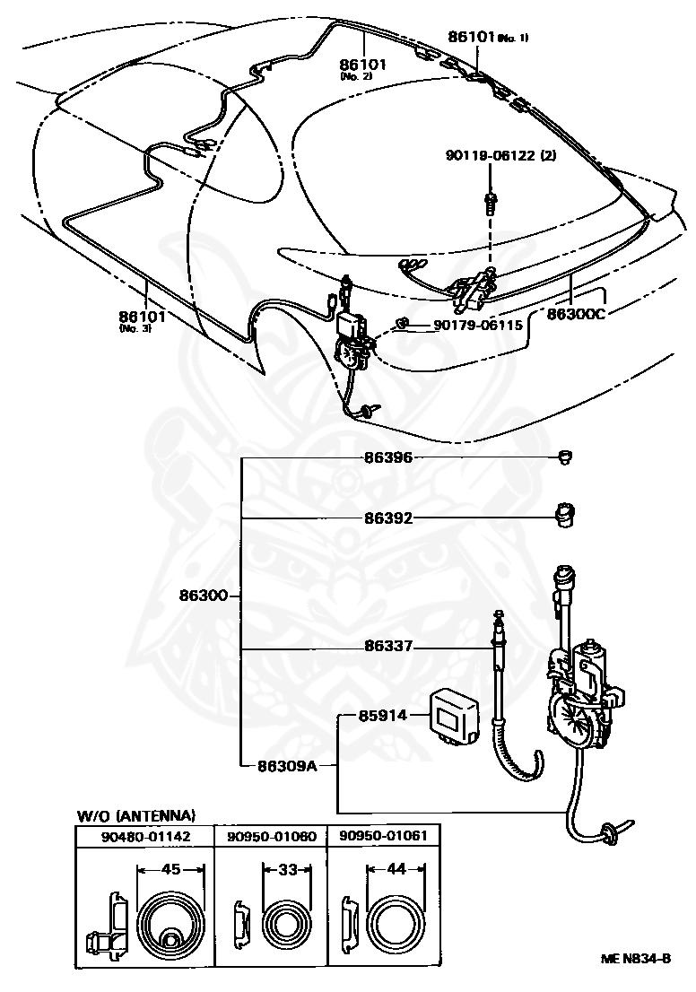 85914 30010 Toyota Relay Motor Antenna Control Nengun Performance