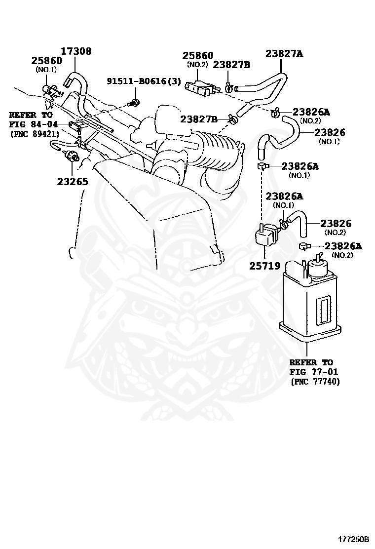 17308 28010 Toyota Hose Sub Assy Vacuum For Idle Up Nengun Performance