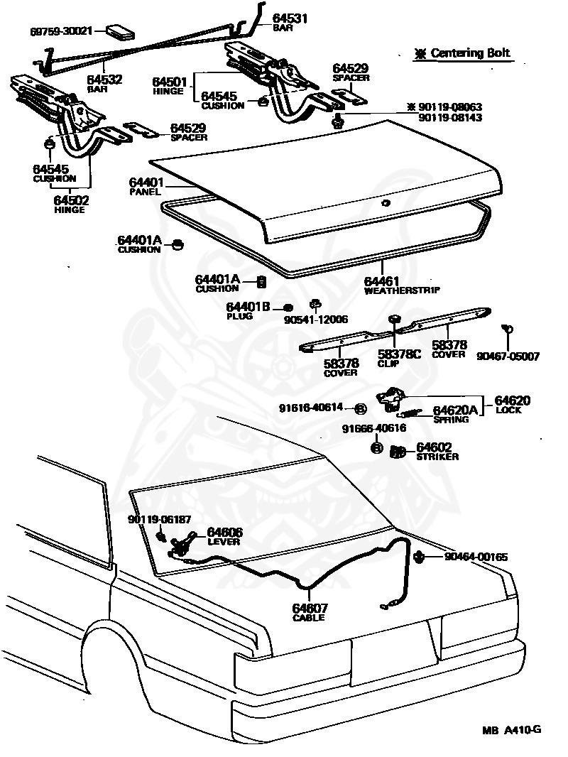Left Middle Honda Genuine 81731-S0X-A41ZA Seat Cushion Trim Cover