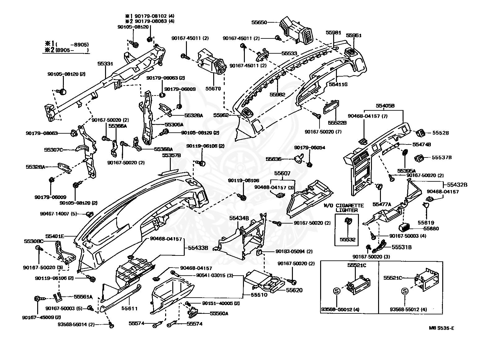 55401 12230 04 Toyota Pad Sub Assy Instrument Panel Safety Nengun Performance