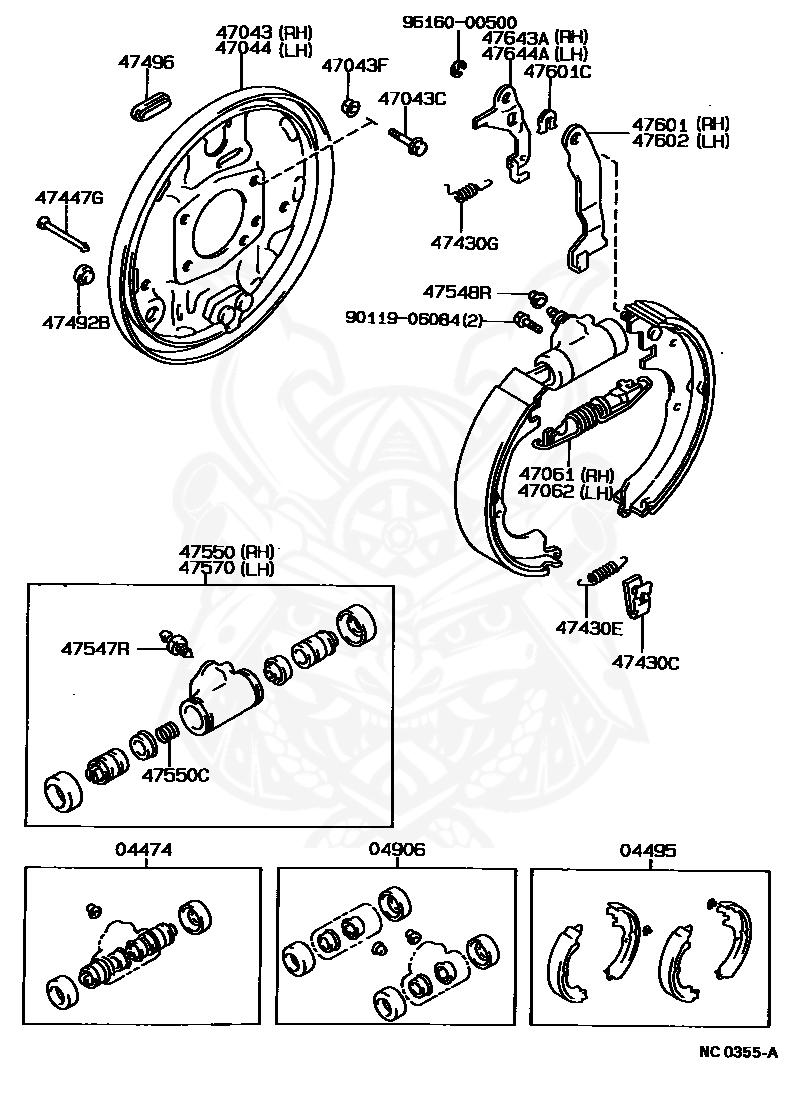 Genuine Toyota 90506-16007 Brake Spring