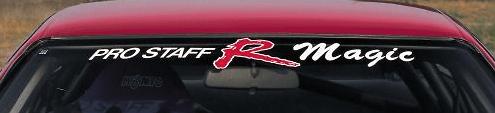 R Magic - PRO STAFF R Magic Window Sticker