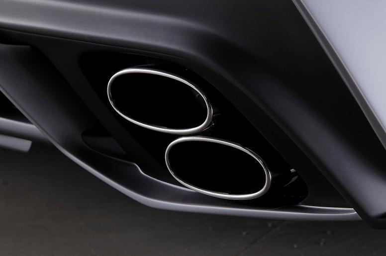 Black Pearl Lexus IS250/350 Muffler Extensions