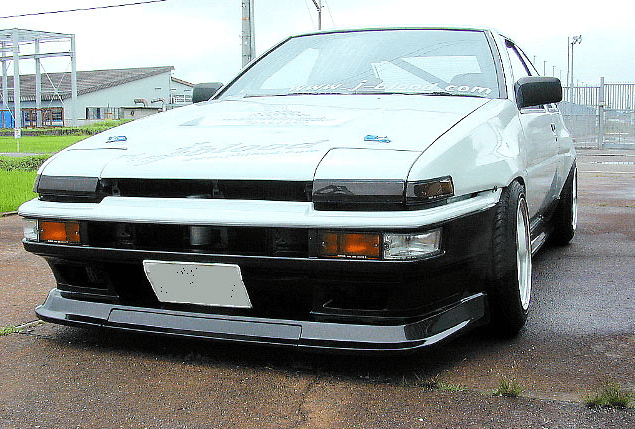 J-Blood Front Bumper Soft FRP for the AE86 Trueno Kouki