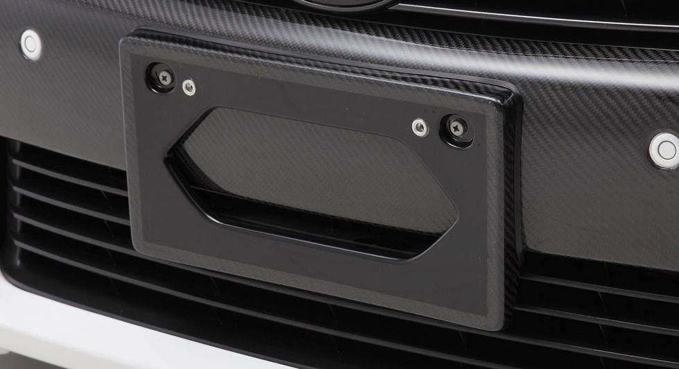 Lexus - GS450h/350/300h/250 (10 early model) Normal Bumper - LX carbon front license base