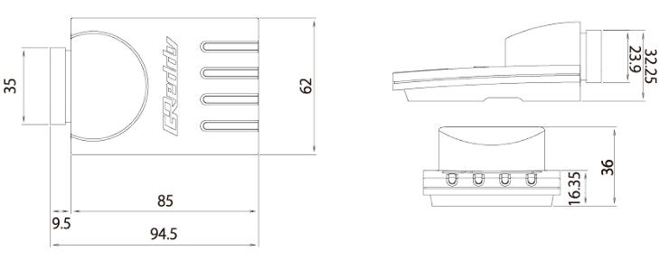 Control Unit Dimensions