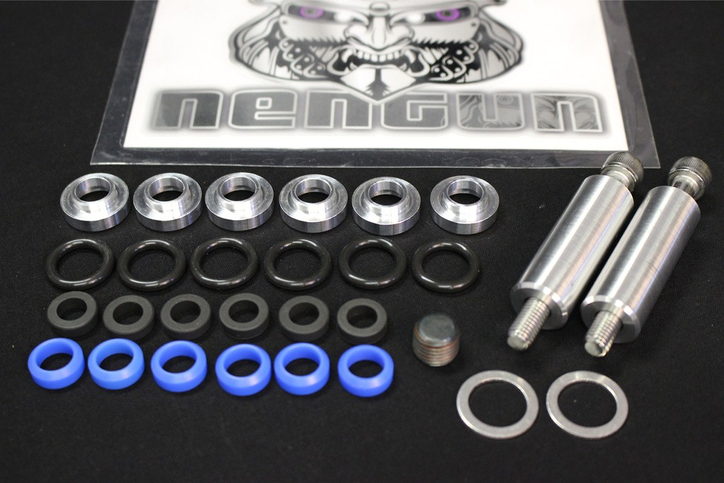 Tom's Set Collar Injector(x6), O-Ring(x6), Insulator(x6), Gasket(x2), Duracon Collar(x6), Plug NPT1/