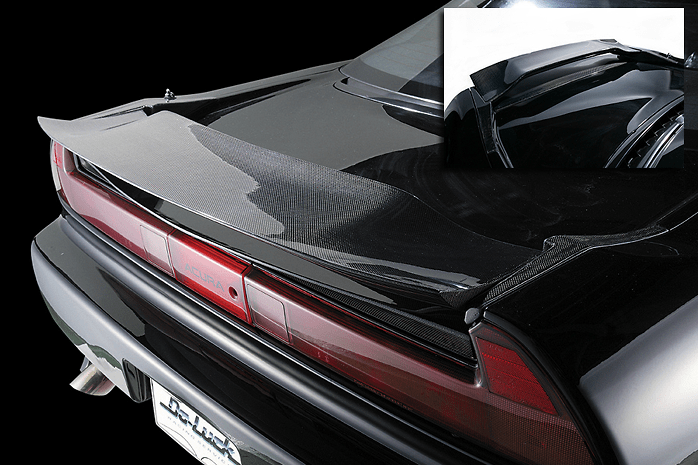 2 Point Kit: Rear Wing with CFRP Flap + Rear Inner Spoiler - Construction: FRP/CFRP - Colour: Unpainted - NSX-2PK