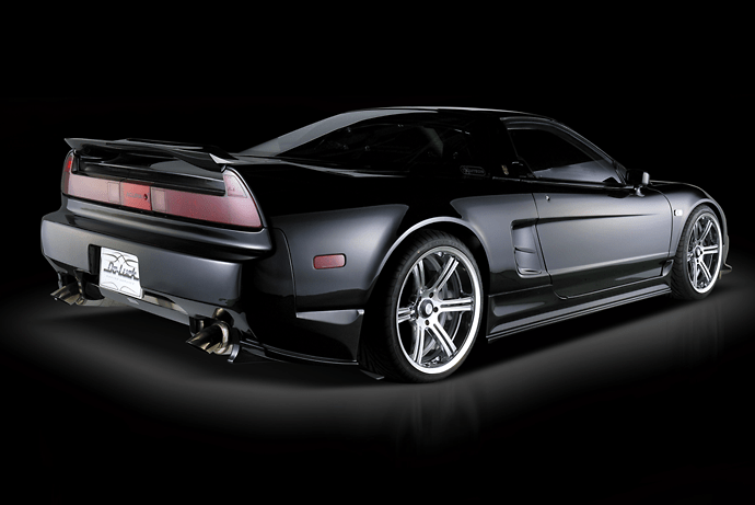 3 Point Set: Front Bumper Spoiler with FRP under cover + Side Steps + Rear Bumper Spoiler with FRP under flap - Construction: FRP - Colour: Unpainted - NSX-3PS-FRP