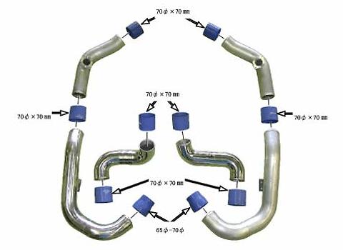 Greddy - Intake Piping Set - GTR R35 - 12020941