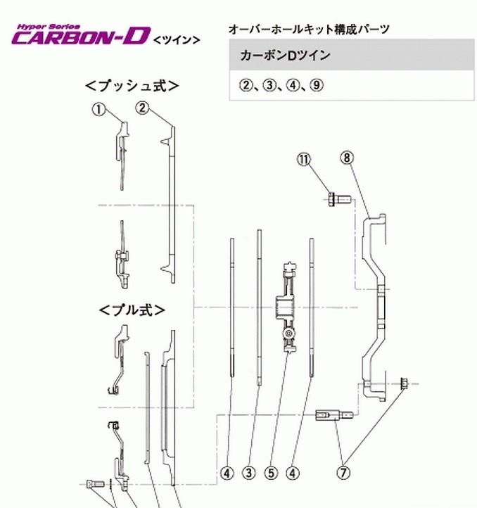 Hyper Carbon - Carbon-D Repair parts