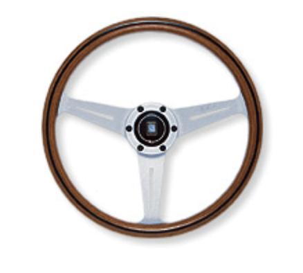 Type: Flat - Material: Vite Wood - Color: Silver Spoke - Diameter: 360mm - N160